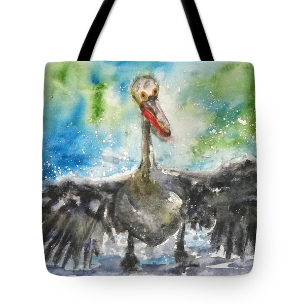 Tote Bag featuring the painting Cooling Off by Anna Ruzsan