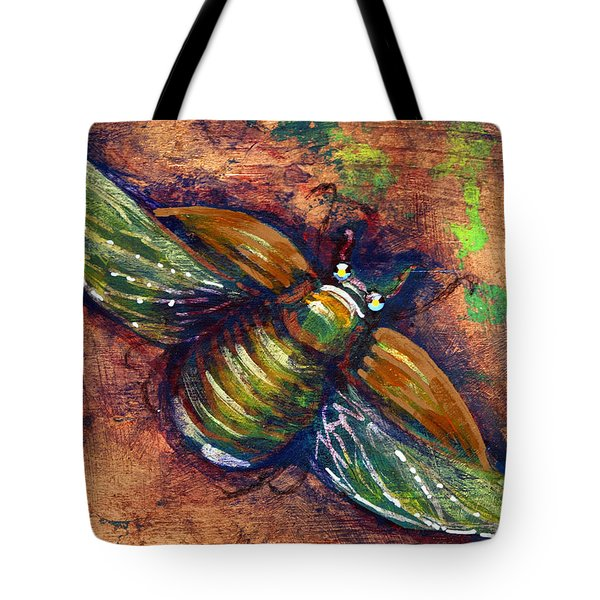 Copper Beetle Tote Bag