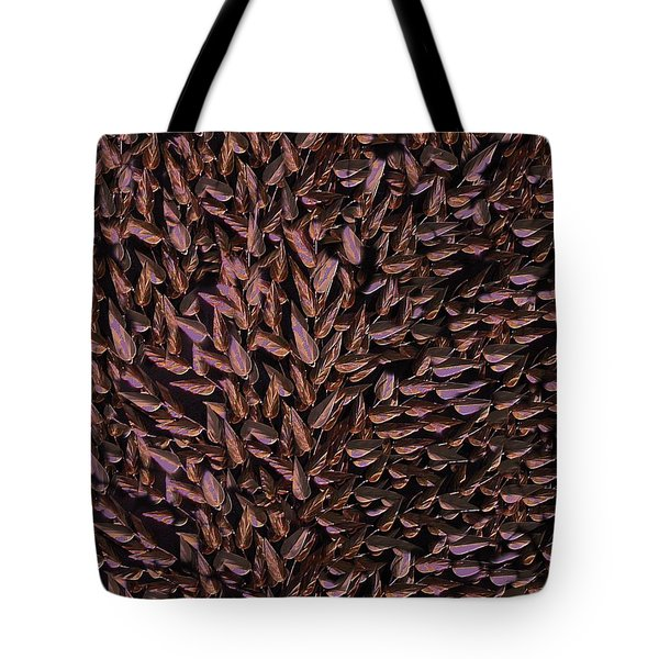 Copper Leaf Tote Bag by David Dehner