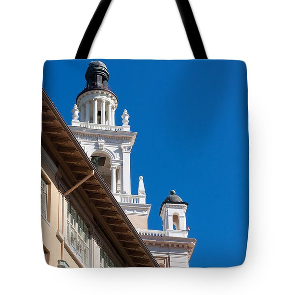 Tote Bag featuring the photograph Coral Gables Biltmore Hotel Tower by Ed Gleichman