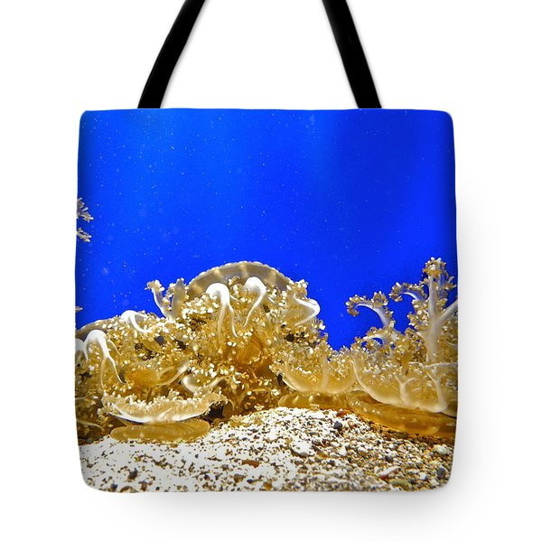 Coral Like Golden Crowns Tote Bag by Kirsten Giving
