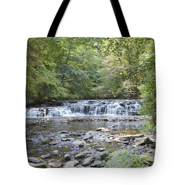 Tote Bag featuring the photograph Corbetts Glen Waterfall by William Norton