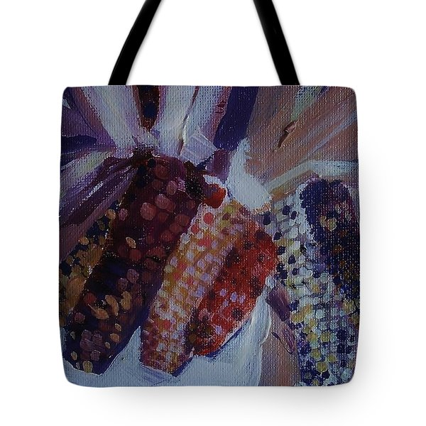 Corn Tote Bag by Andrew Drozdowicz