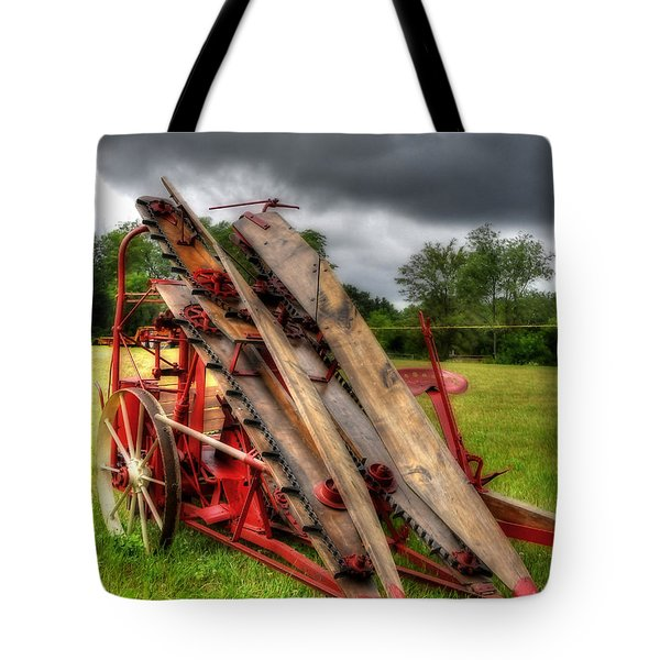 Tote Bag featuring the photograph Corn Binder by Trey Foerster