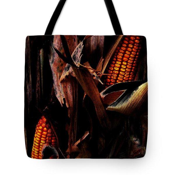 Corn Stalks Tote Bag by Rachel Christine Nowicki