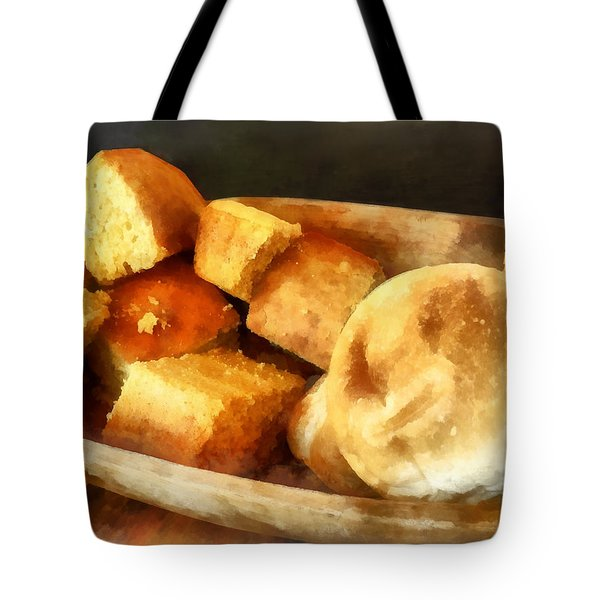 Cornbread And Rolls Tote Bag by Susan Savad