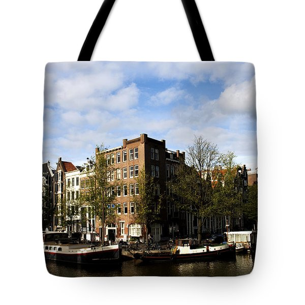Corner Of Prinsengracht And Brouwersgracht Tote Bag by Fabrizio Troiani