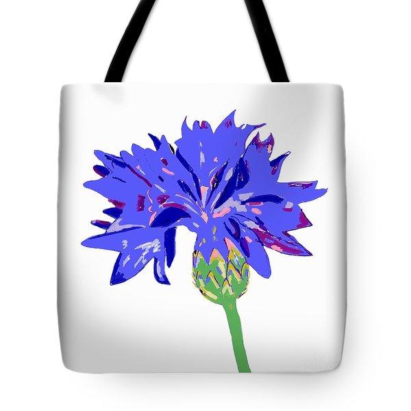 Cornflower Tote Bag by Barbara Moignard