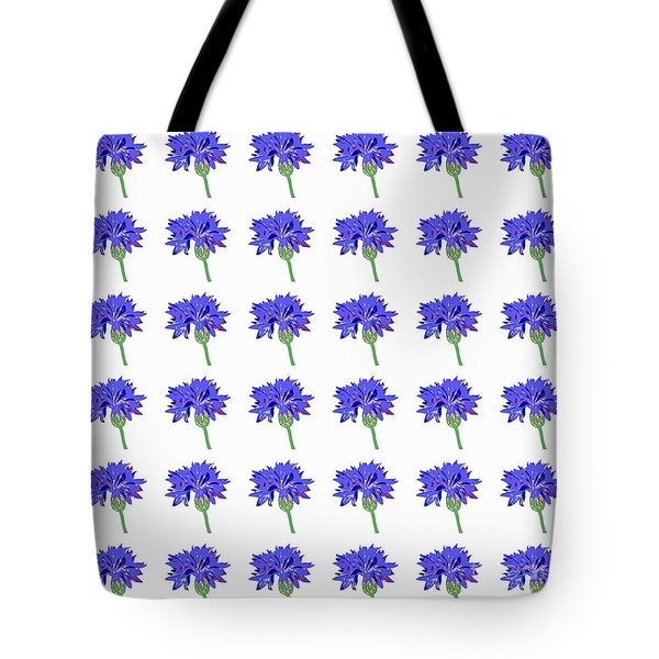 Tote Bag featuring the digital art Cornflowers by Barbara Moignard