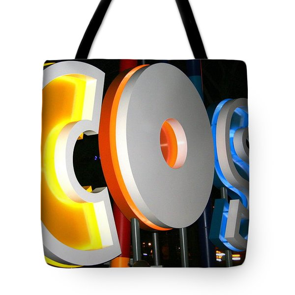Cosi In Neon Lights Tote Bag