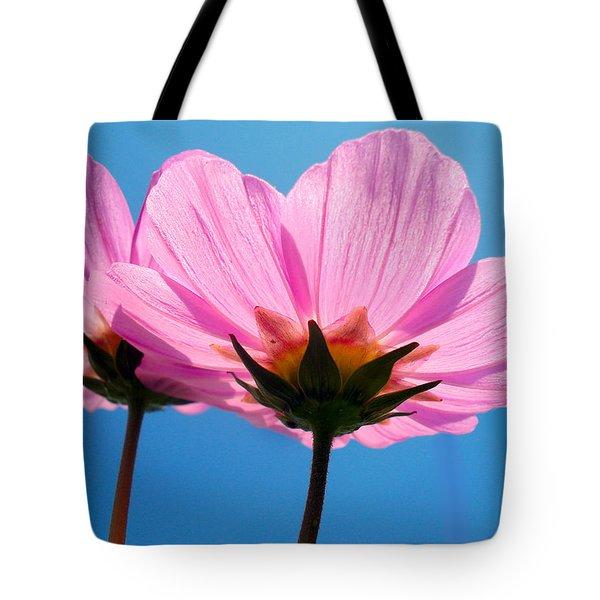 Cosmia Flowers Pair Tote Bag by Sumit Mehndiratta