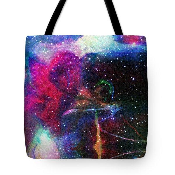 Cosmic Connection Tote Bag by Linda Sannuti