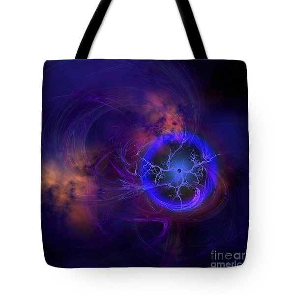 Cosmic Forces Out In Space Tote Bag by Corey Ford