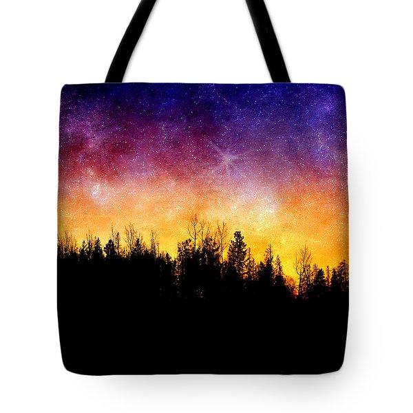 Cosmic Night Tote Bag by Ellen Heaverlo