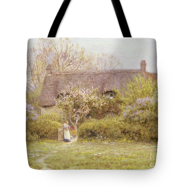 Cottage Freshwater Isle Of Wight Tote Bag