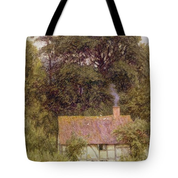 Cottage Near Brook  Tote Bag by Helen Allingham
