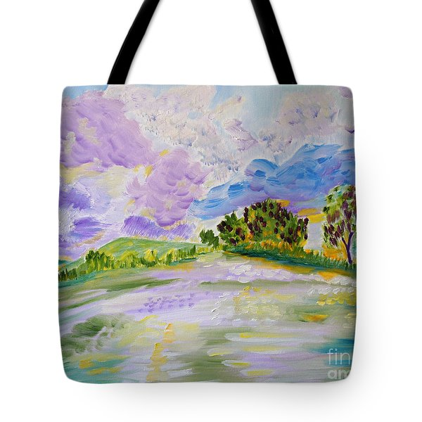 Cotton Candy Clouds Tote Bag by Meryl Goudey
