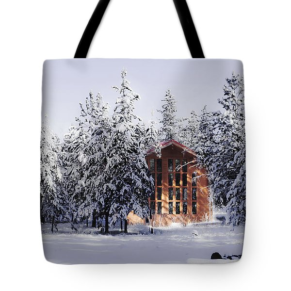 Tote Bag featuring the photograph Country Christmas by Janie Johnson