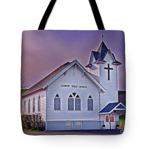 Tote Bag featuring the photograph Country Church At Sunset Art Prints by Valerie Garner
