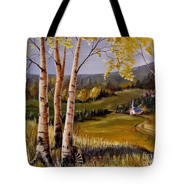 Country Church Tote Bag by Marilyn Smith