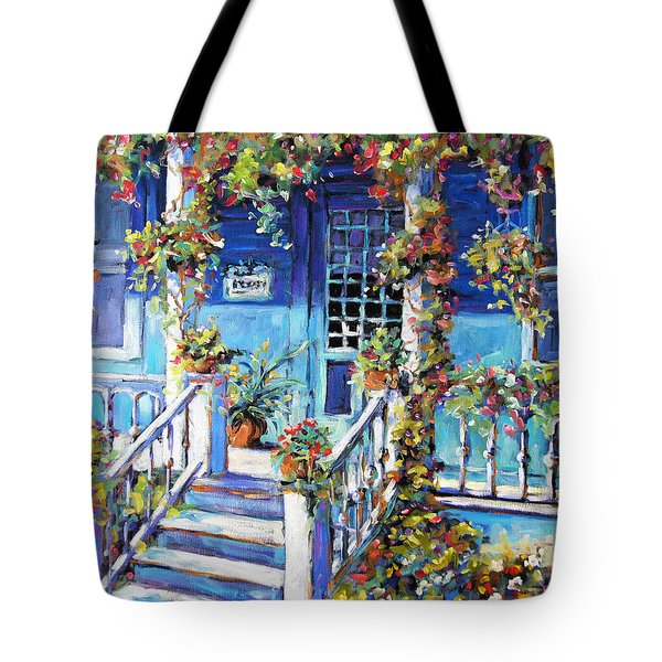Country Porch And Flowers By Prankearts Tote Bag