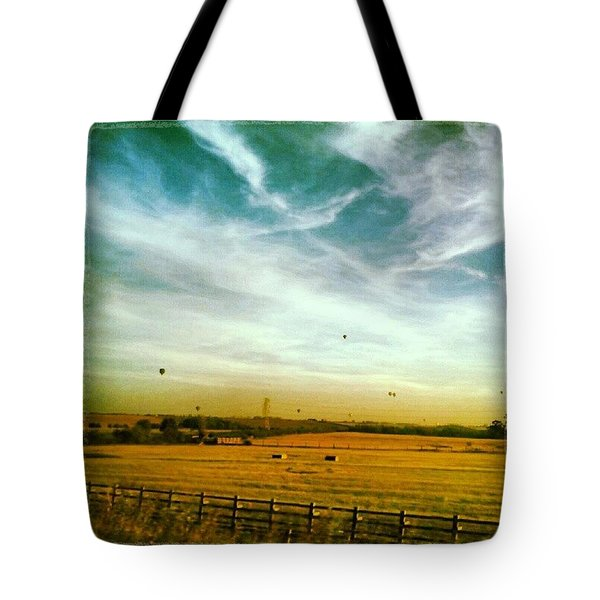 Countryside Balloon Rides Tote Bag