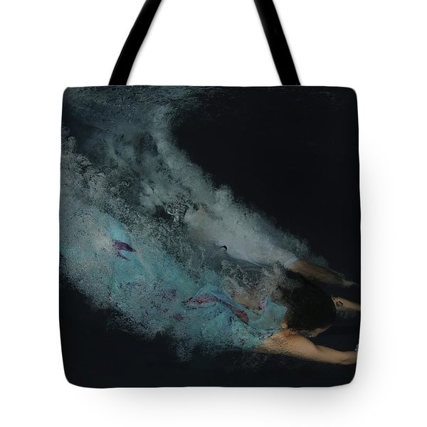 Couple Dive Together Into Water. Tote Bag by Hagai Nativ