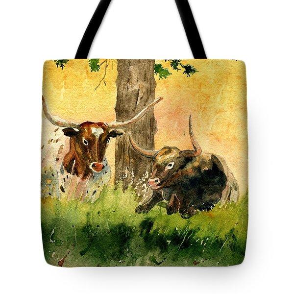 Couple Texas Longhorn Tote Bag