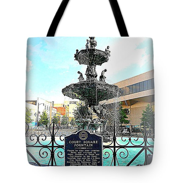 Court Square Fountain Tote Bag by Carol Groenen