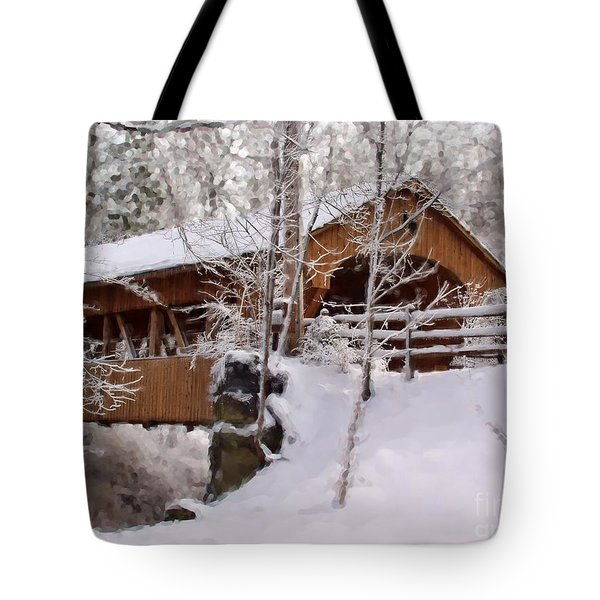 Covered Bridge At Olmsted Falls - 2 Tote Bag