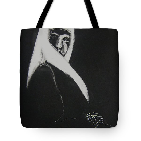 Tote Bag featuring the drawing Waiting by Gabrielle Wilson-Sealy
