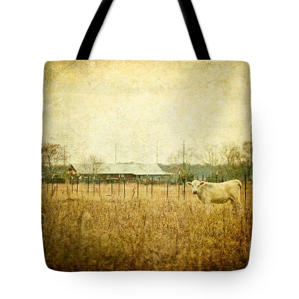 Cow Pasture Tote Bag by Joan McCool
