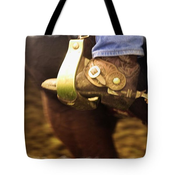Cowboy Boot Tote Bag by Carson Ganci