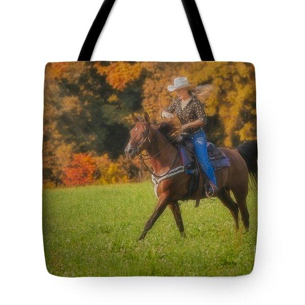 Cowgirl Tote Bag by Susan Candelario