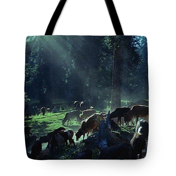 Cows Come Home Tote Bag