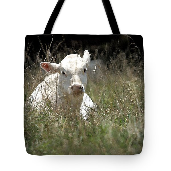 Cow's Meadow Tote Bag by Karol Livote