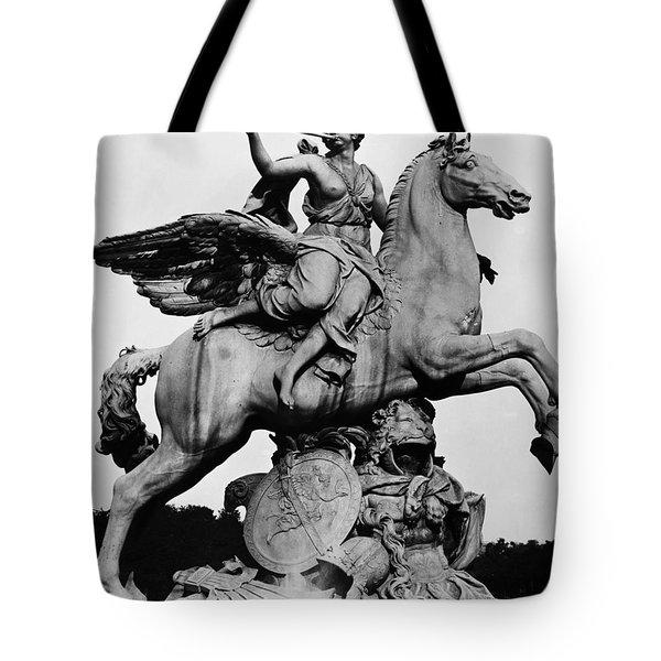 Coysevox: Fame And Pegasus Tote Bag by Granger