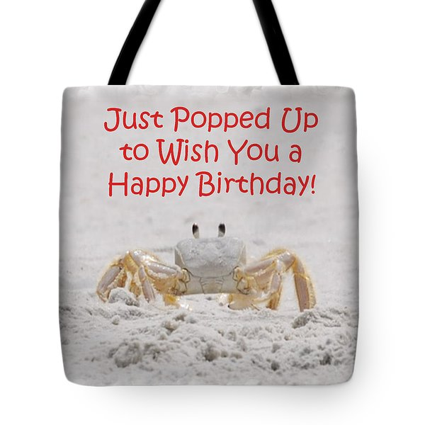 Crab Happy Birthday Tote Bag