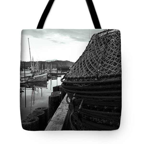 Crab Traps Tote Bag by Darcy Michaelchuk