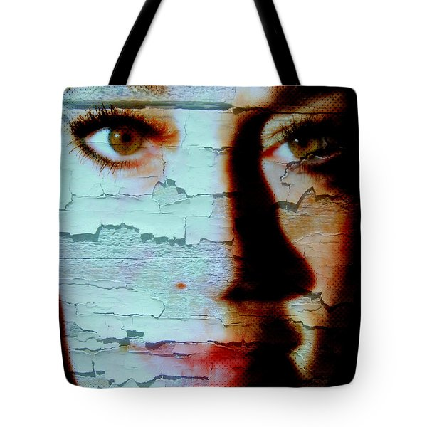 Crackled View Tote Bag