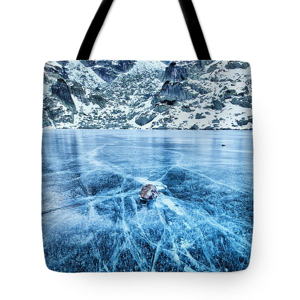 Cracks In The Ice Tote Bag by Evgeni Dinev