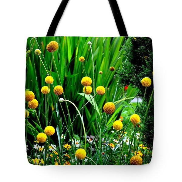 Craspedia Tote Bag by Tanya  Searcy