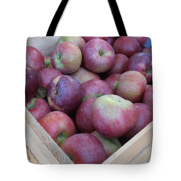Crate Of Apples Tote Bag by Kimberly Perry