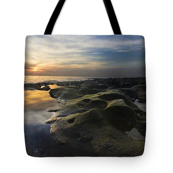 Crater Lake Tote Bag by Debra and Dave Vanderlaan