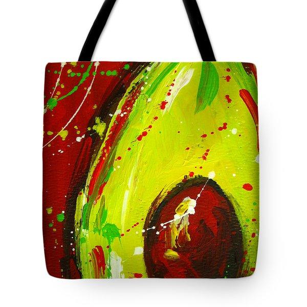 Crazy Avocado 3 - Modern Art Tote Bag