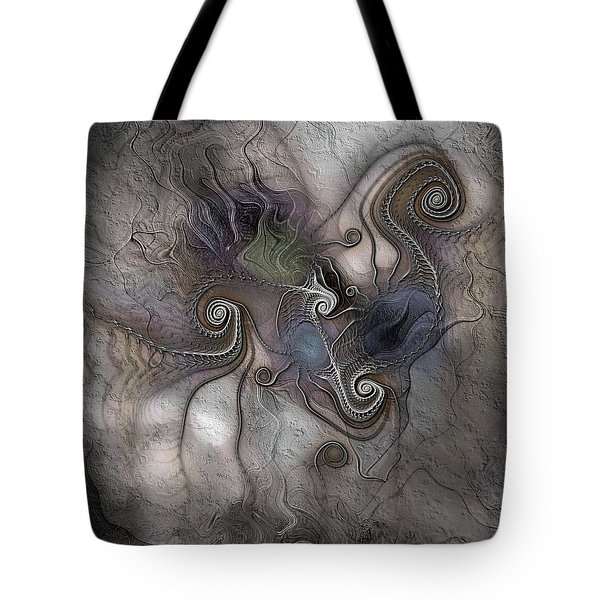 Tote Bag featuring the digital art Creatively Calcified by Casey Kotas