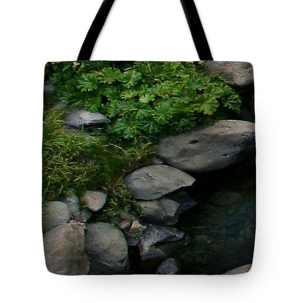 Creek Flow Panel 2 Tote Bag by Peter Piatt