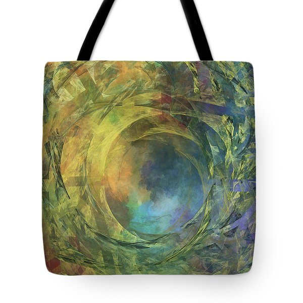 Crescent Moon And Earth Tote Bag by Betsy Knapp