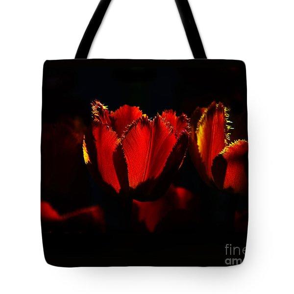 Crinkle Tulips Tote Bag