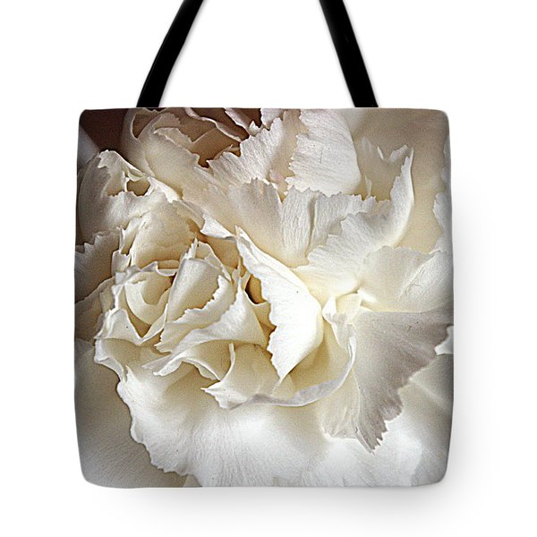 Tote Bag featuring the photograph Crisp Carnation Photo by Deniece Platt